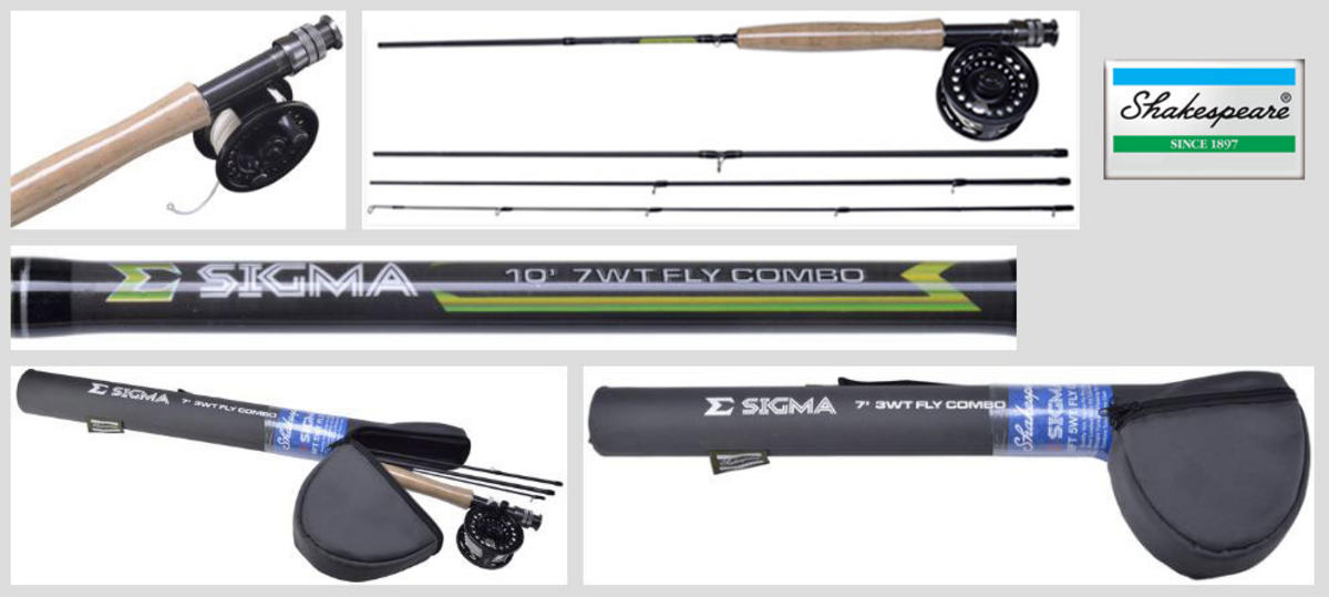 New Shakespeare Sigma Fly Fishing Combo - Rod / Reel / Case - Loaded with Line