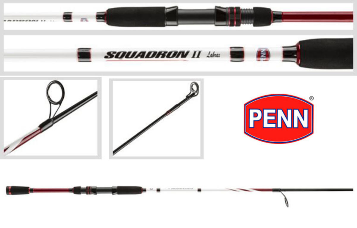 New Penn Squadron II / Mk2 Labrax (Bass) Fishing Rod 8ft / 14-42g / 2pc