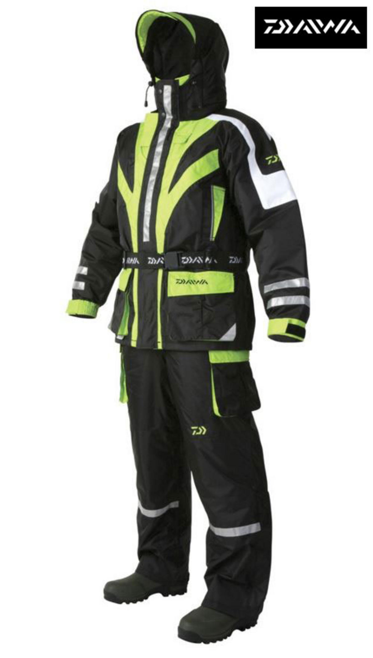DAIWA CROSSFLOW PRO BREATHABLE 2PC FLOTATION SUIT WITH FREE BISON UNDERSUIT