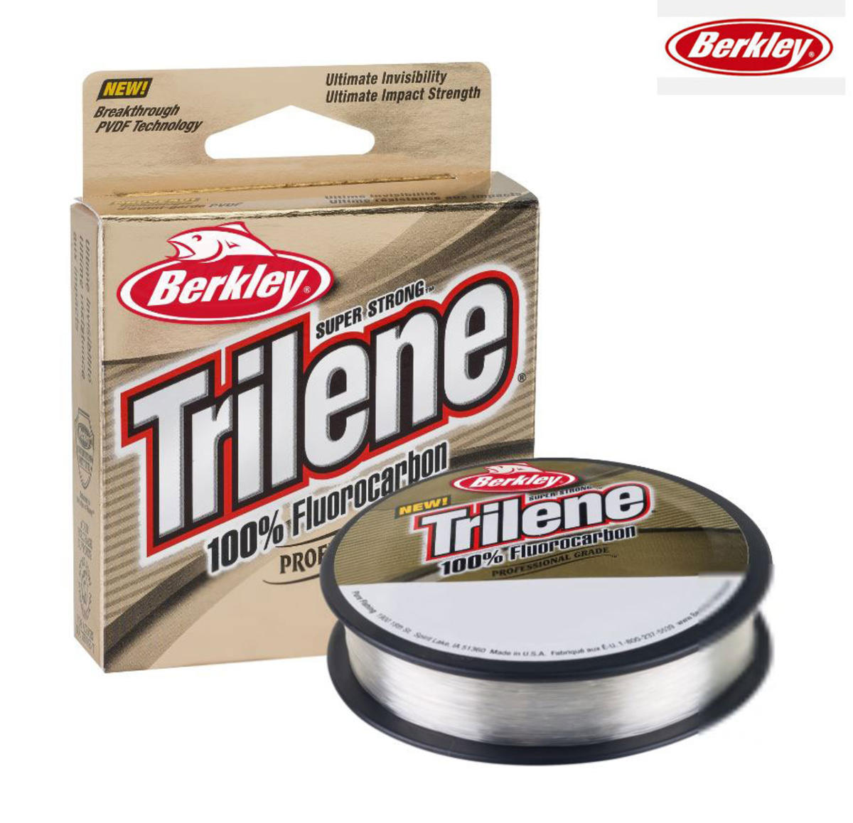 Berkley Trilene 100% Fluorocarbon Tippet / Leader Line 50m Spool - All B/Strains