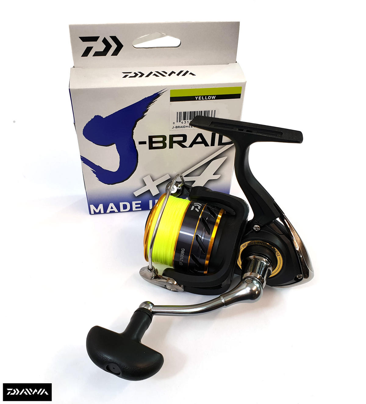 Special Offer Daiwa Crossfire 2500BG Fishing Reel - Fully Loaded with J-Braid X4