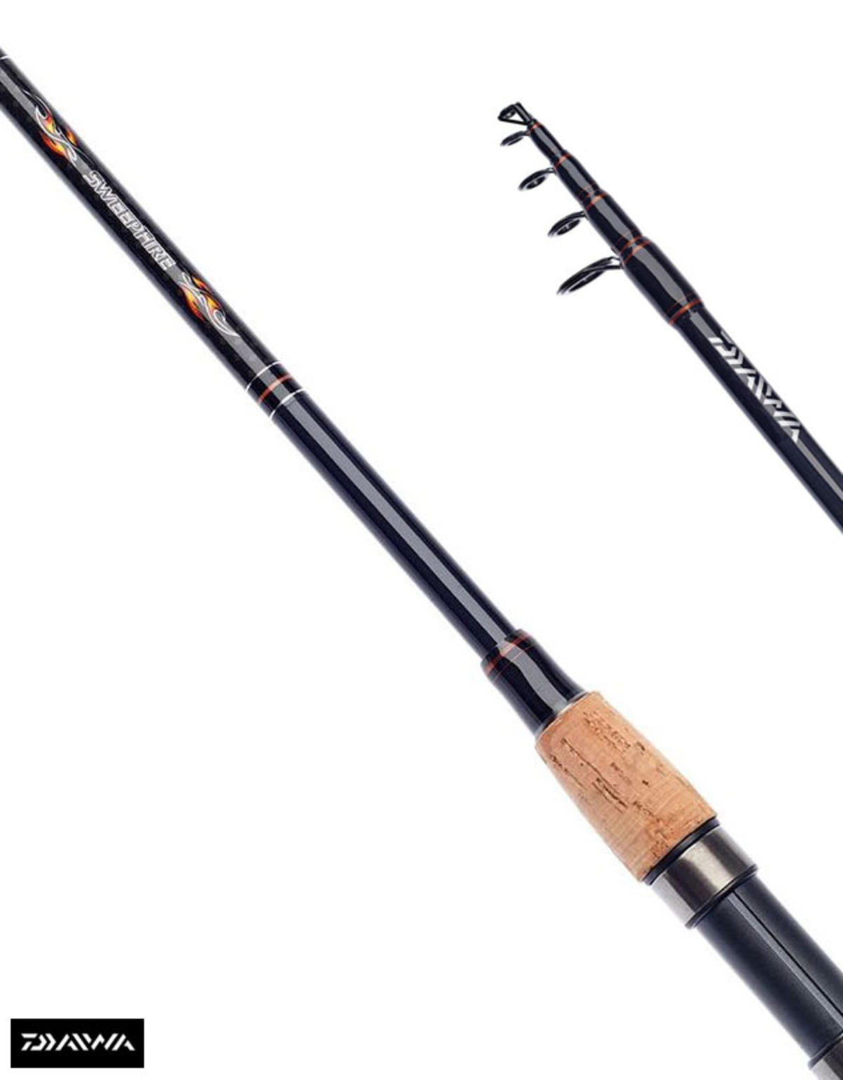 New Daiwa Sweepfire Telescopic Spinning Fishing Rods 8ft - 10ft - All Models