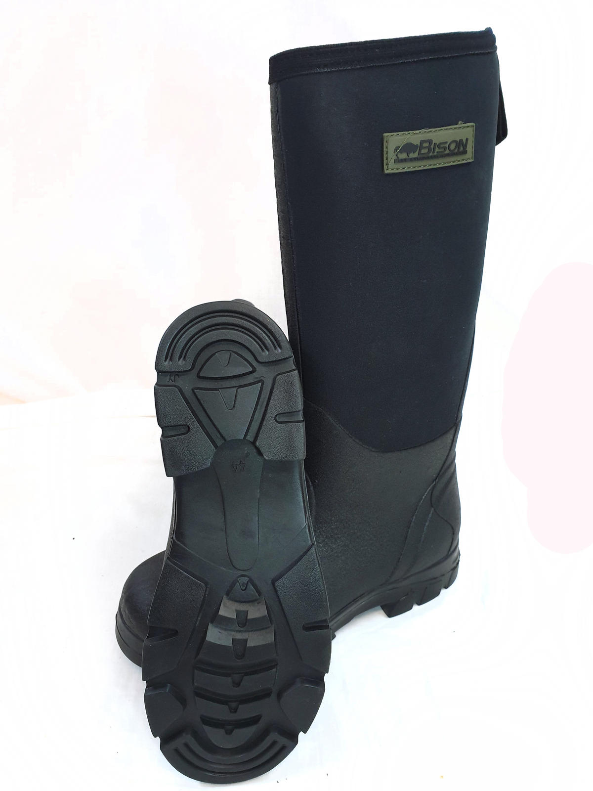 BISON NEOPRENE WELLINGTON MUCK BOOT BLACK