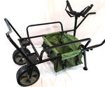 BISON HEAVY DUTY FISHING TWO WHEEL BARROW, BARROW BAG + Y BAR FISHING TROLLEY