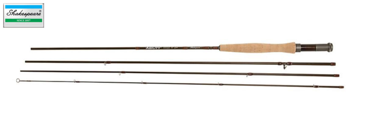 Shakespeare Agility 2 Rise Fly Fishing Rod - 6ft / #3 / 4pc with Cordura Tube