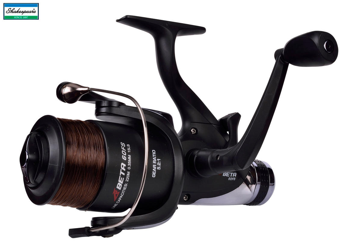 Shakespeare Beta 40 FS FreeSpool Fishing Reel - Loaded with Mono Line