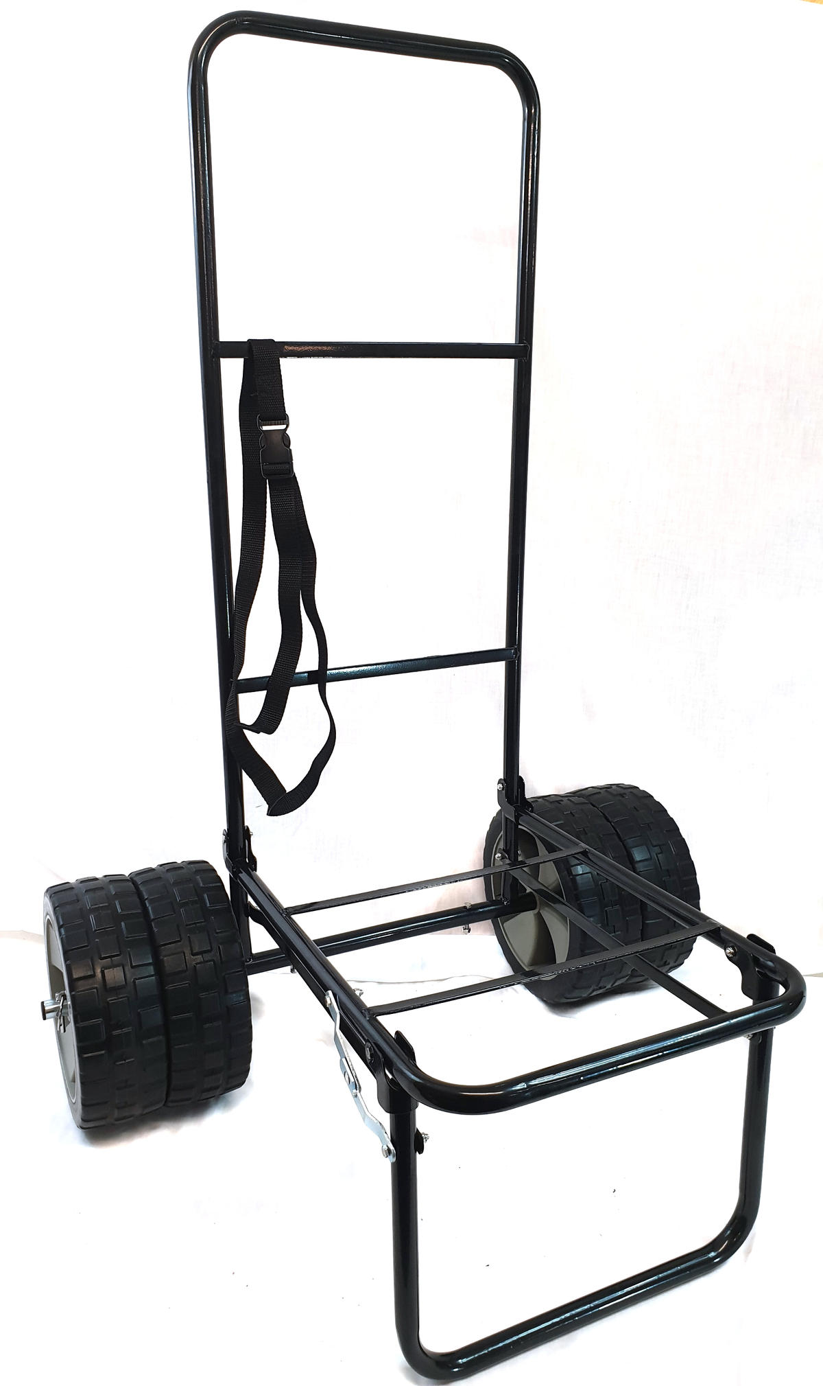 BISON FOLDING FISHING SEATBOX TROLLEY