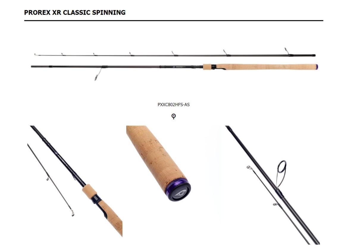 New Daiwa Prorex XR Classic 8' 2 sec Spinning Rods PXXC802HFS-AS 40/80g