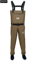 Ex Display Daiwa Breathable Chest Waders Khaki - Size UK7