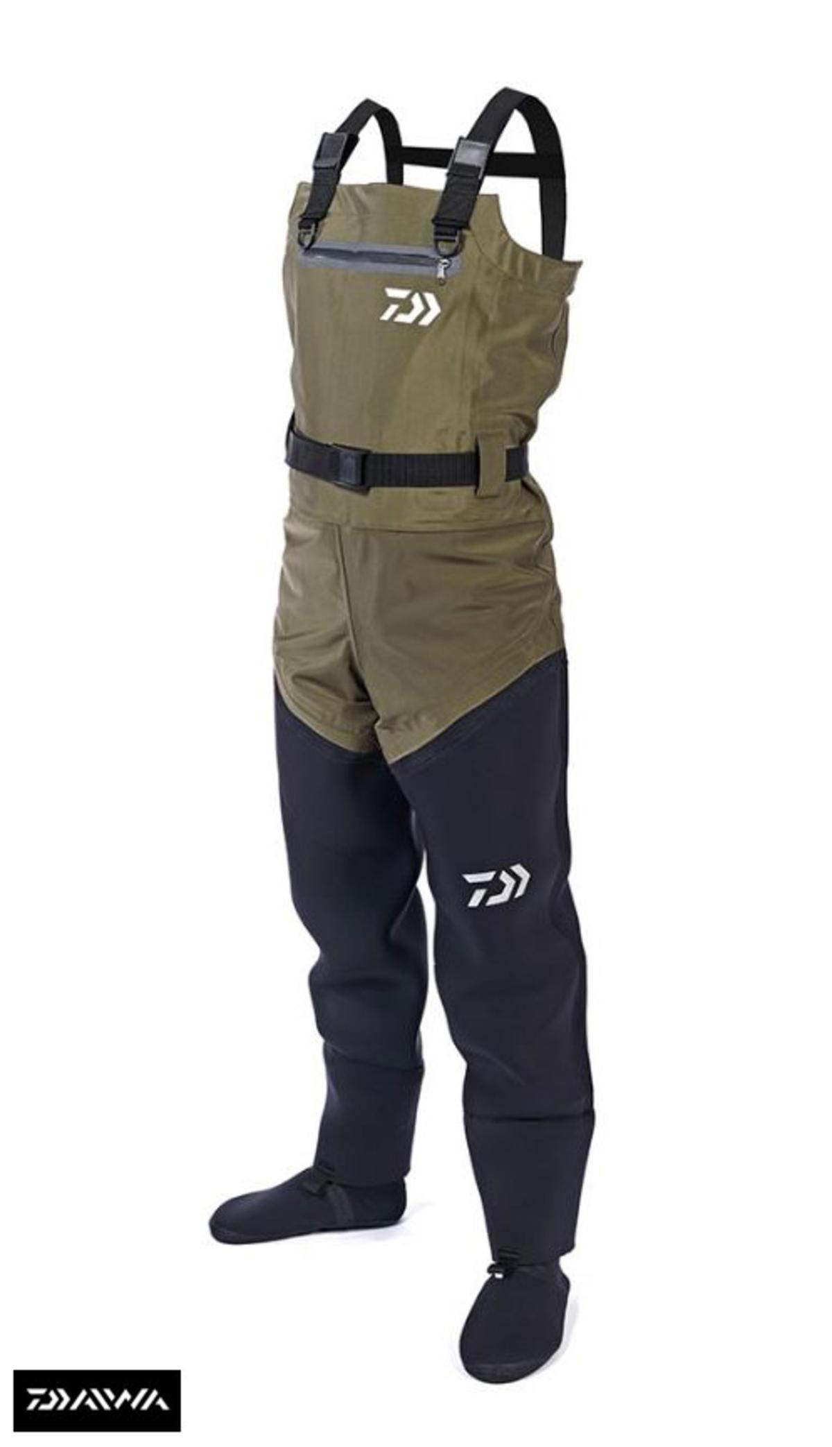 Ex Display Daiwa Hybrid 4 Stretch Breathable / Neoprene Chest Waders - Size UK8