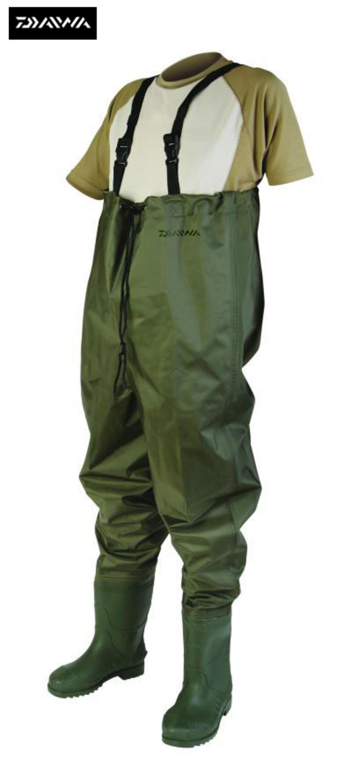 Ex Display Daiwa Lightweight Nylon Chest Waders Size 8  Model No. DNCW-8