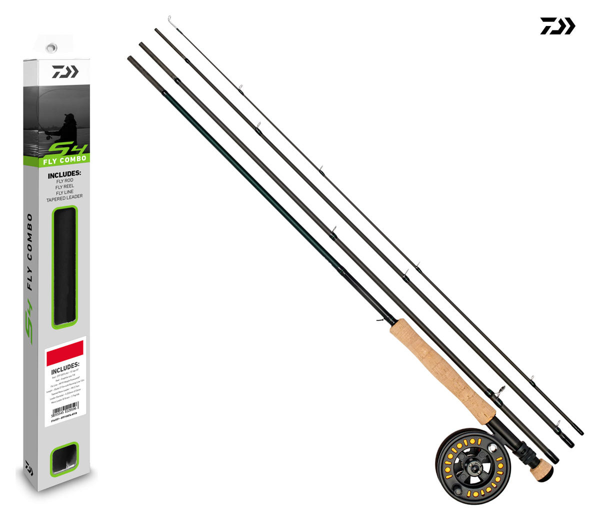 New Daiwa S4 Fly Fishing Combo - Rod/ Reel/ Tube - Loaded with Line - All Models