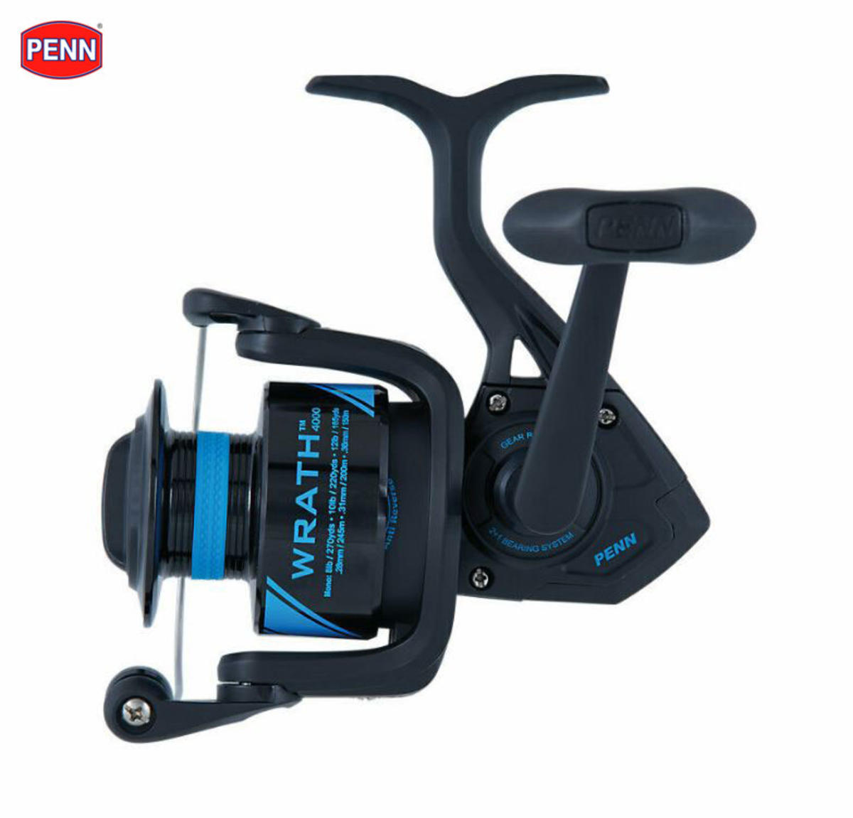 New PENN Wrath 'Fixed Spool' Spinning Fishing Reel - All Sizes / Models