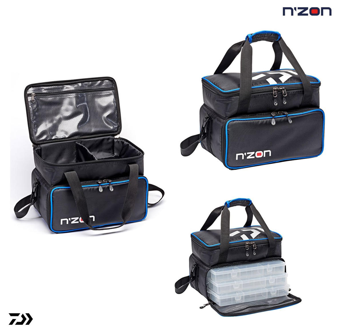 New Daiwa N'ZON Feeder Case Carryall Fishing Tackle Bags  - Medium / Large