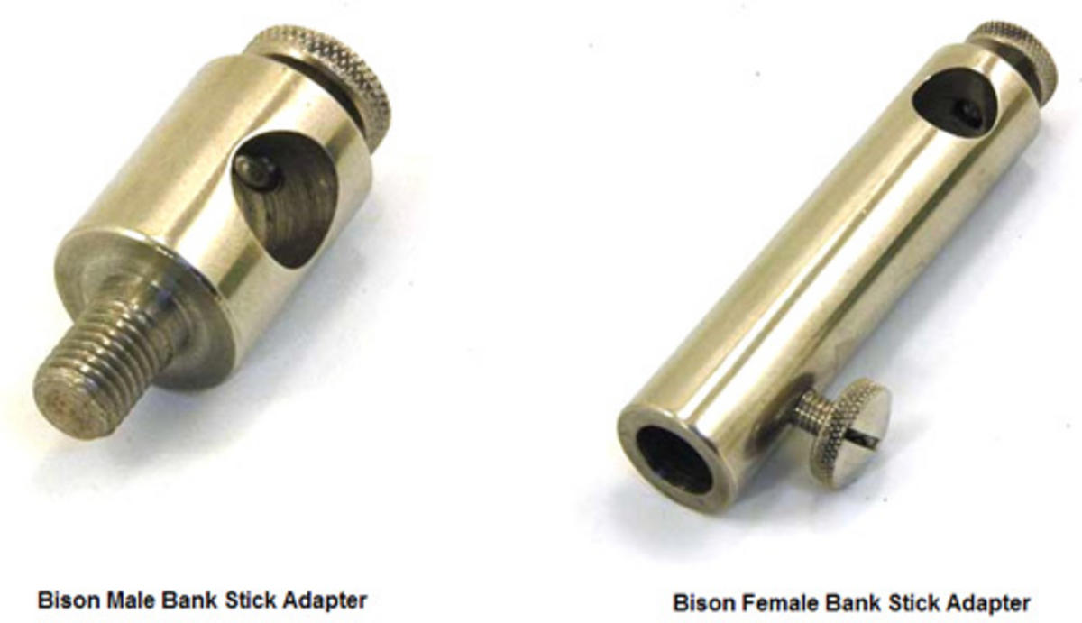 BISON STAINLESS STEEL BANK STICK POCKET ROD POD ADAPTER