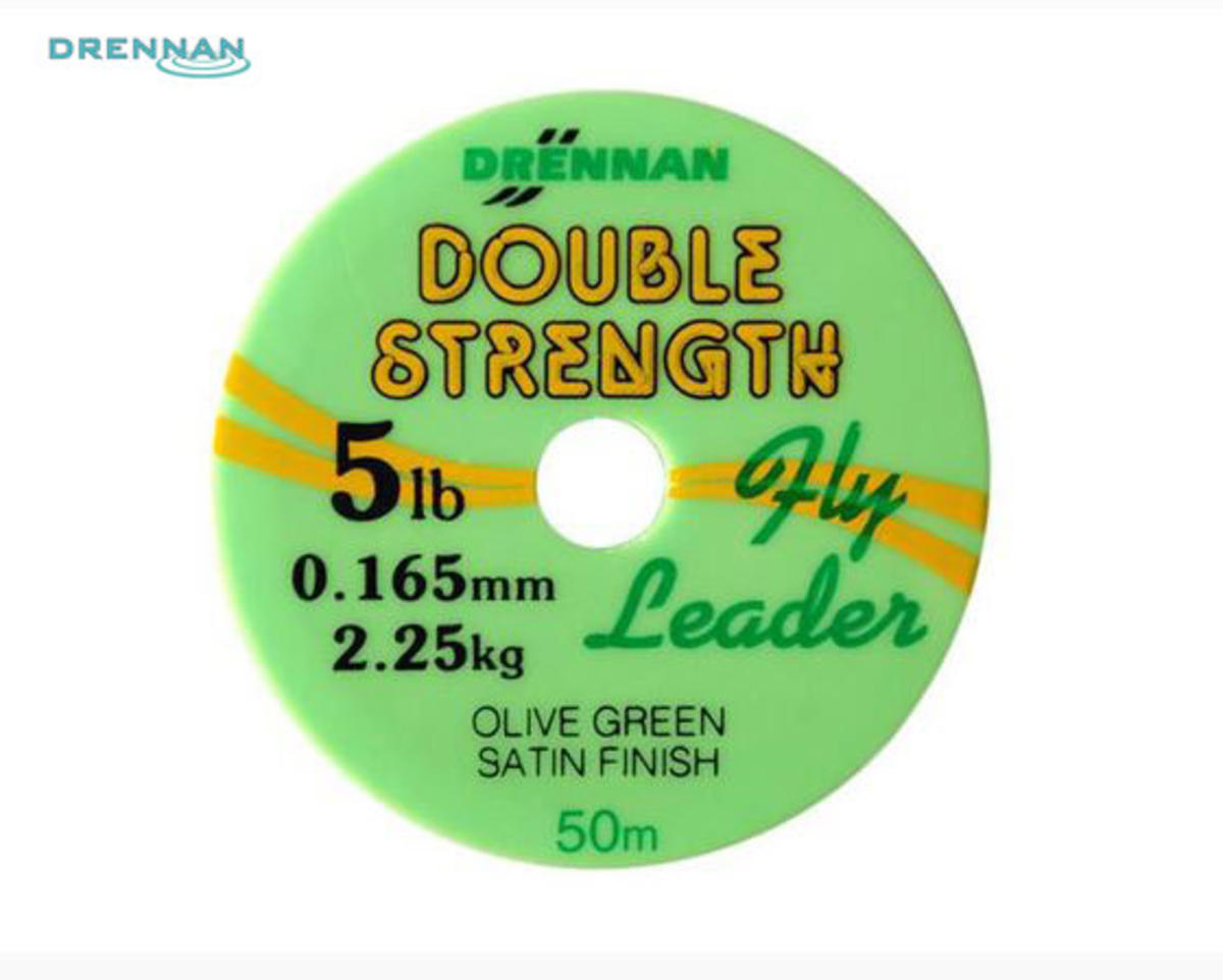 Drennan Double Strength Fly Leader 50m Low Diameter 2,3,4,5,6,7,8,10 & 12lb BS