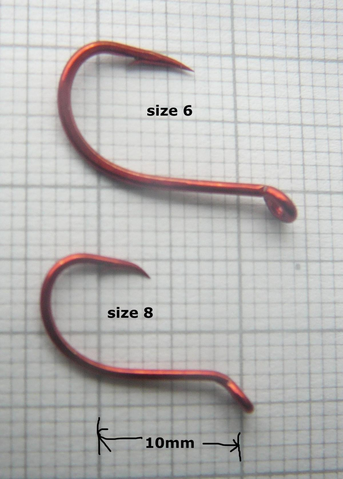 TALON BLOODWORM RED CARP HOOKS SIZE 6 & 8