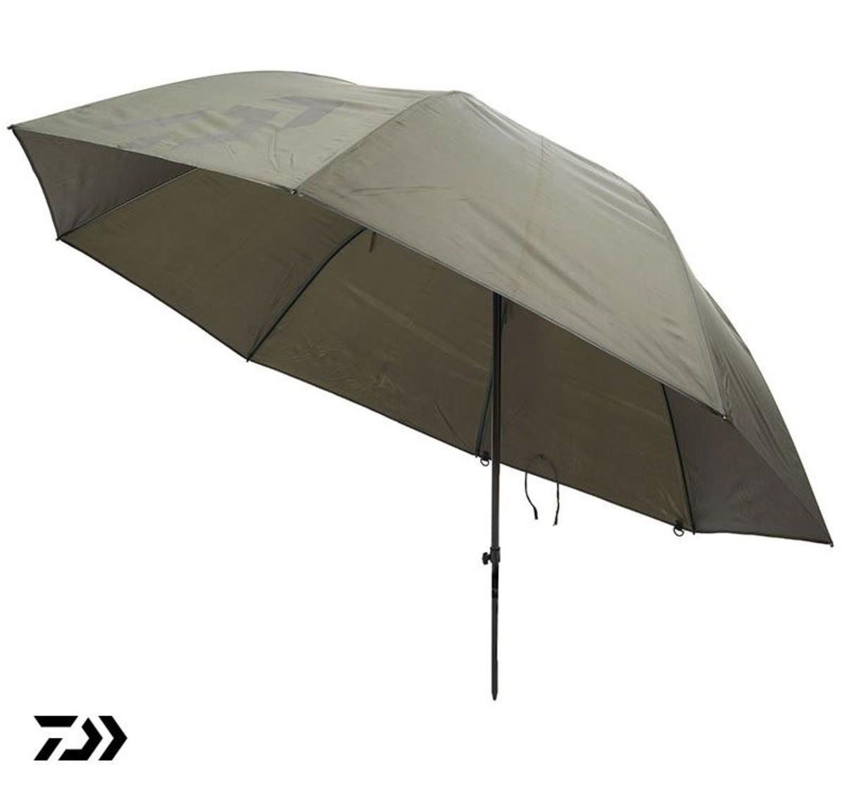 "New Daiwa 125cm / 50"" Green Fishing Brolly / Umbrella - Round - DGB50"