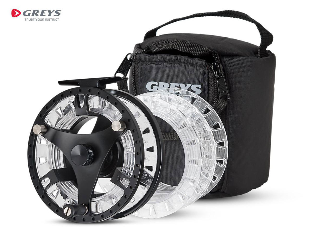 Greys GTS500 5/6/7 Fly Fishing Reel with Carry Case & 2 Spare Spools