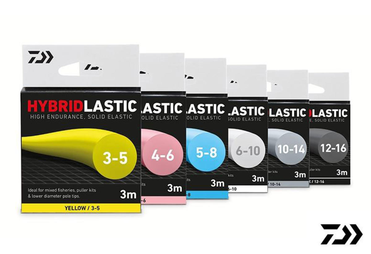 New Daiwa Hybridlastic Pole Match Fishing Elastic 3m - All Sizes / Colours