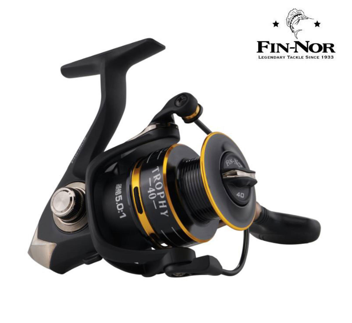 New Fin-Nor Trophy Fixed Spool Spinning Fishing Reel - All Sizes