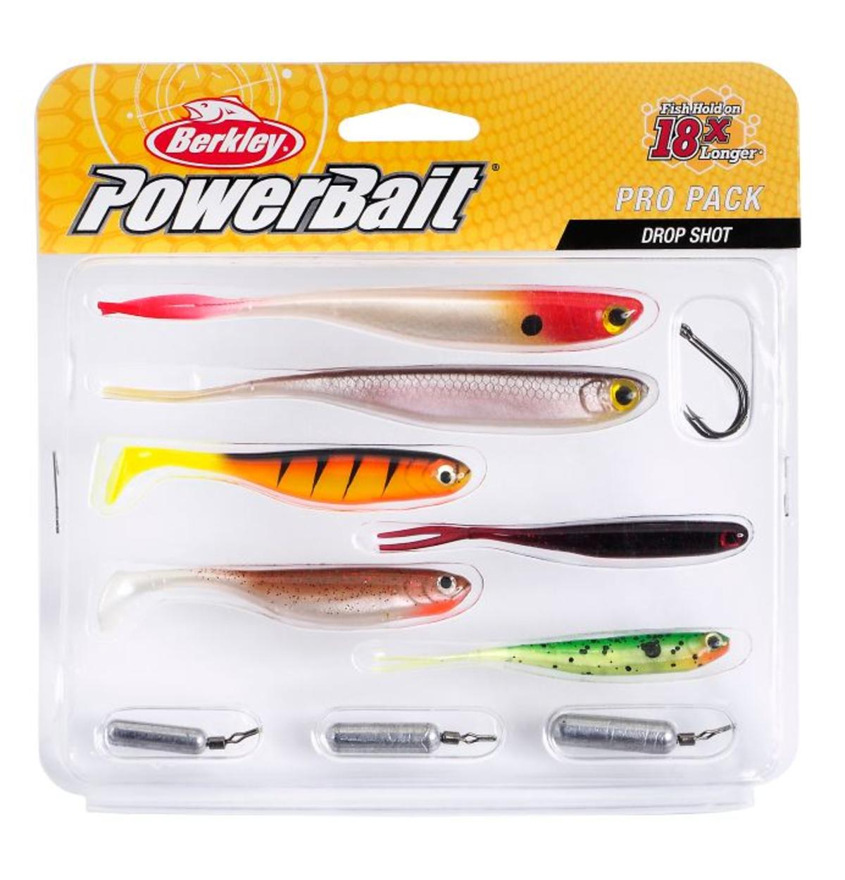 New Berkley Pro Pack Drop Shot / Lure Fishing Set - Lures, Hooks & Weights