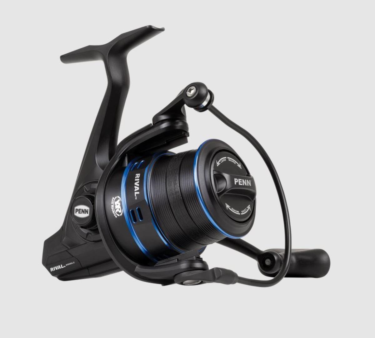 New PENN Rival 7000 Longcast Blue - Surf Pack / Fixed Spool Reel - Case & Spools