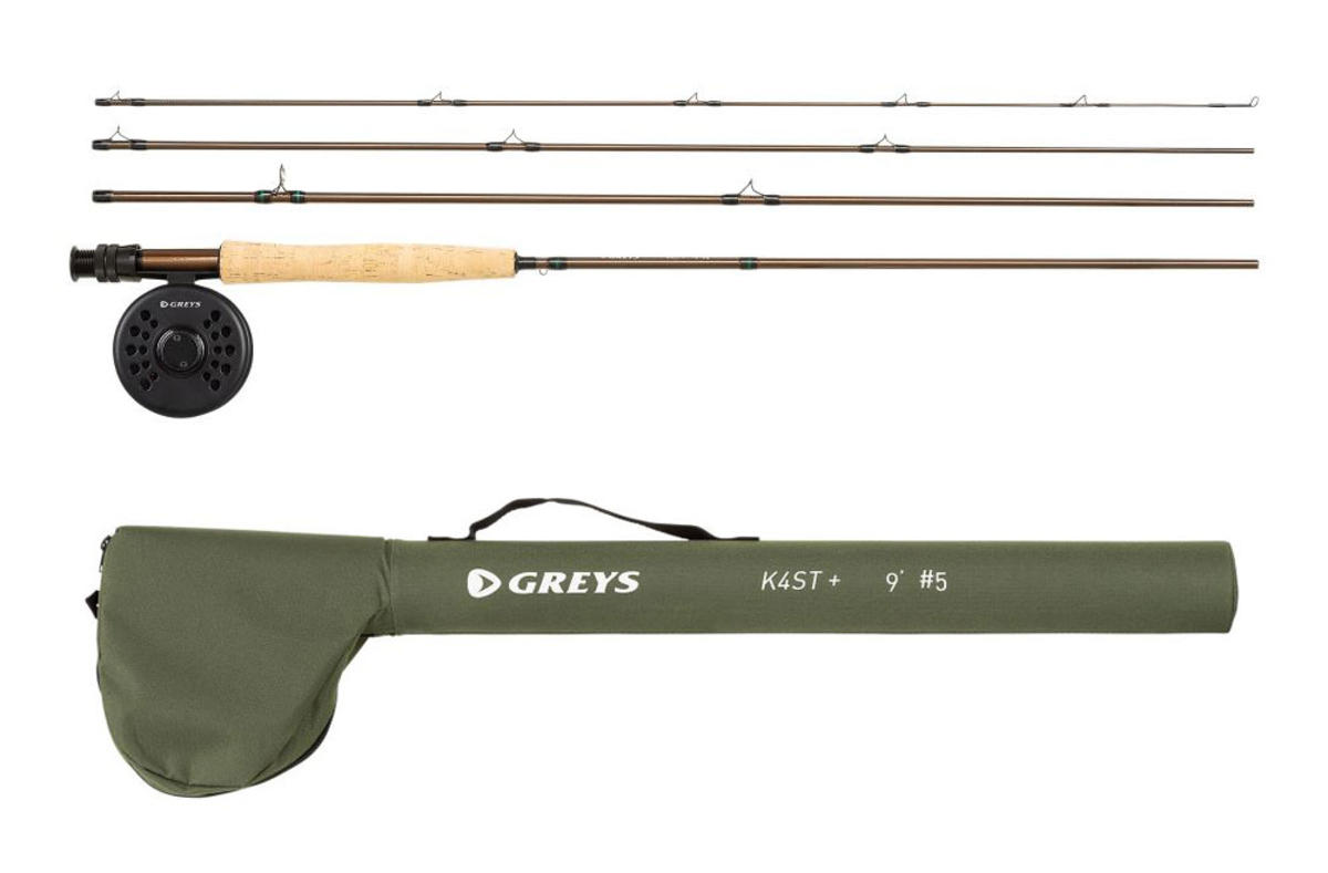 """Greys K4ST+ Fly Fishing Combo 9'6"""" / #7 - Rod / Reel / Tube - Loaded with Line"""