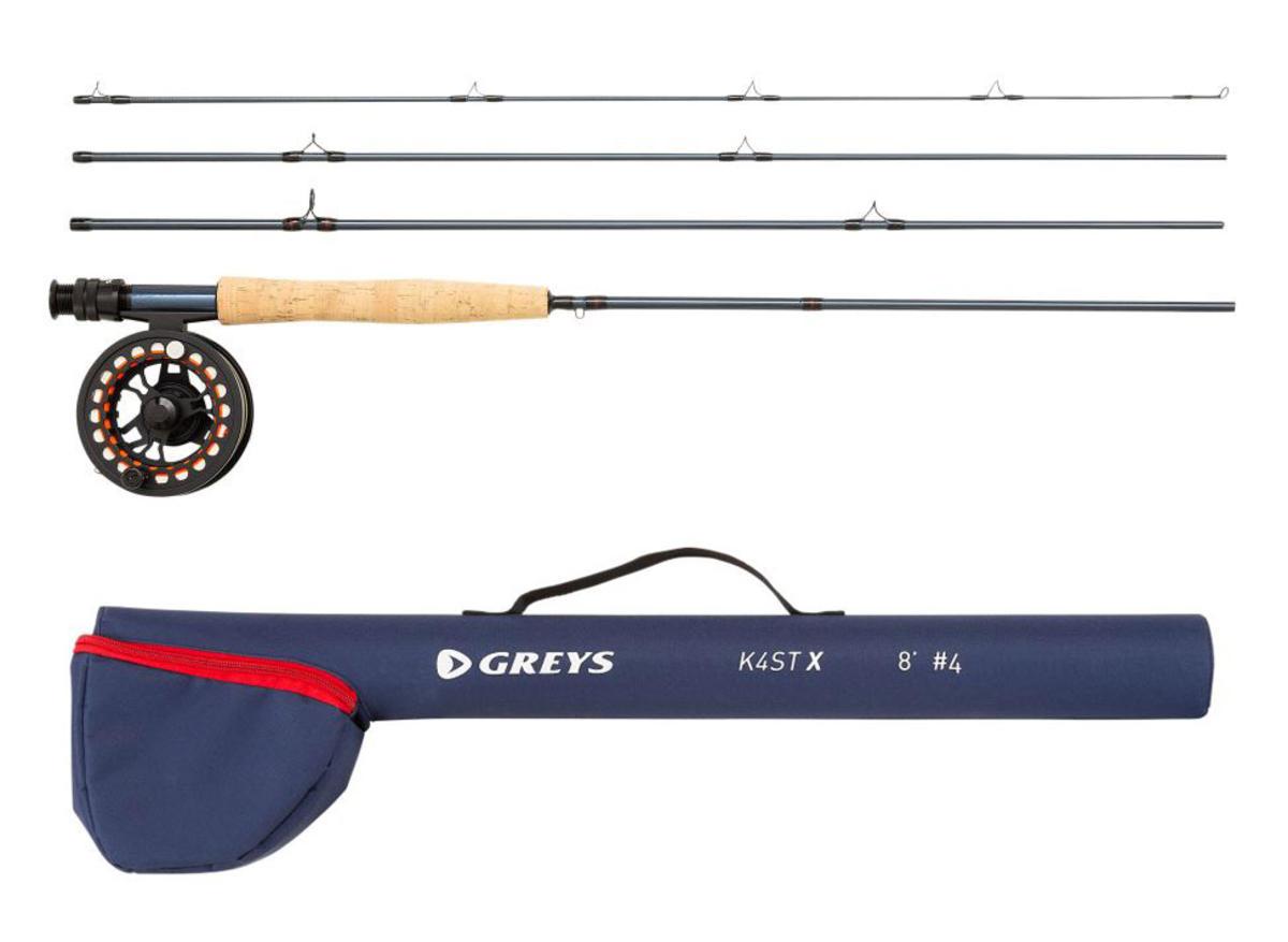 Greys K4STX Fly Fishing Combo 9' / #9 - Rod / Reel / Tube - Loaded with Line