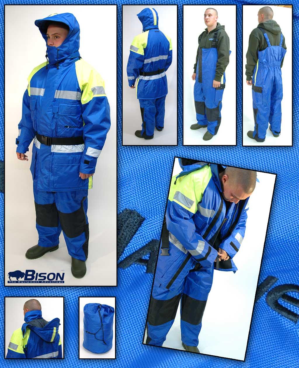 Special Offer Bison 2pc Flotation/Floatation Suit Sizes Medium - XXL