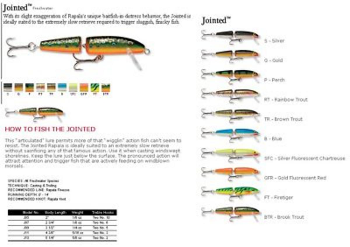 RAPALA JOINTED FLOATING 7 CM SLV FLUO CHART  RAPJ07SFC