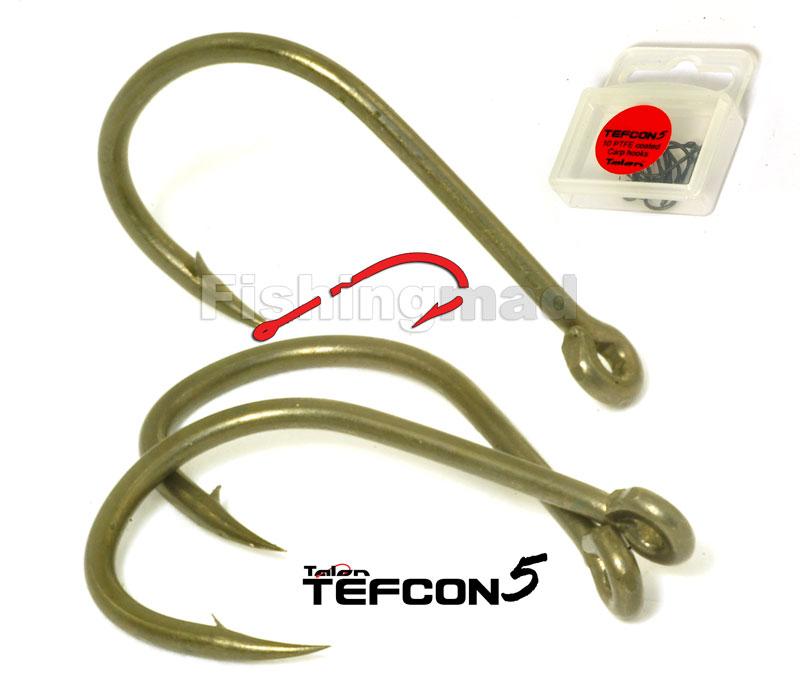 TALON TEFCON5  PTFE TEFLON CARP HOOKS QTY10 SIZE 4,6,8