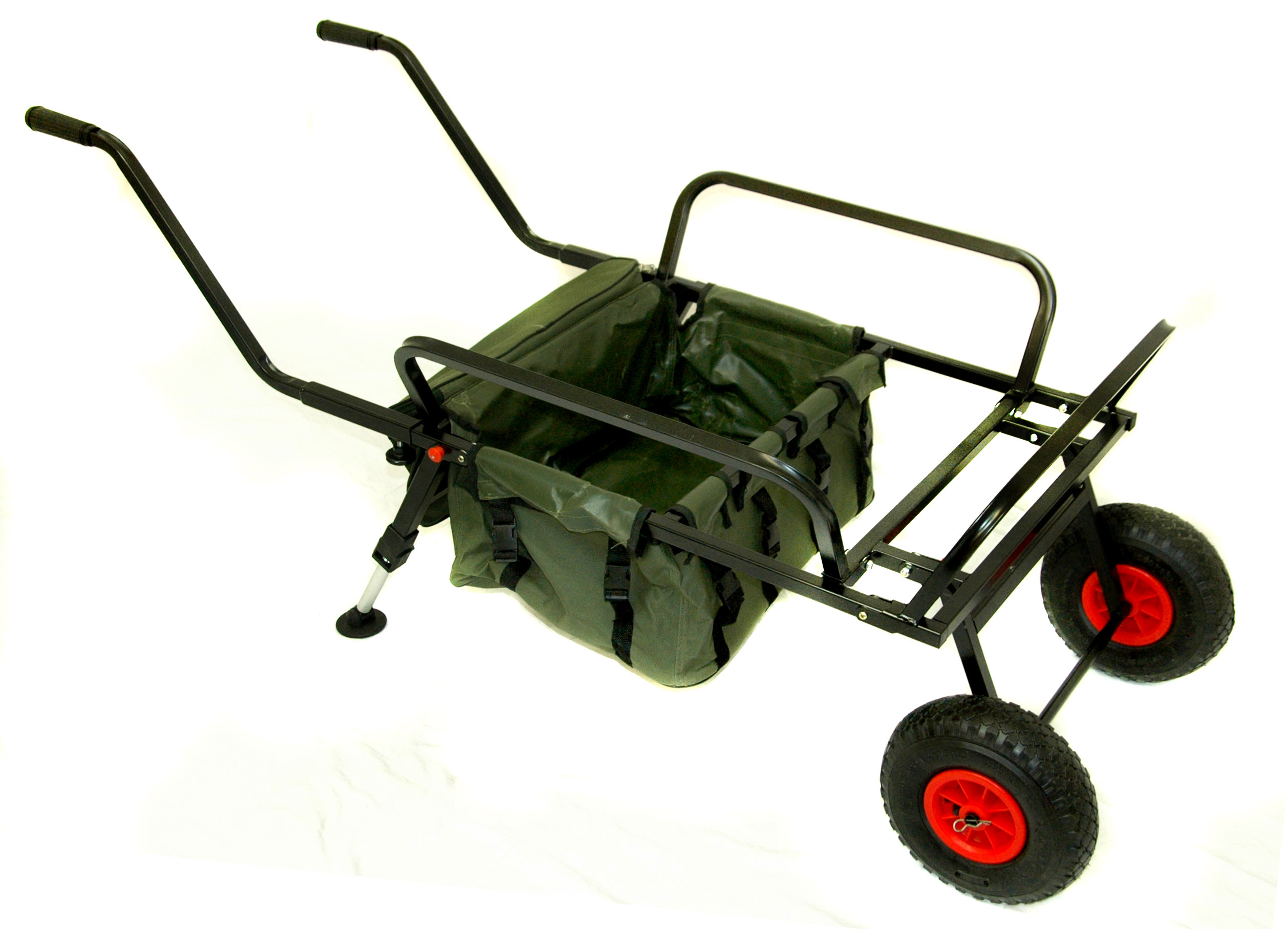 Bison Fishing Two Wheel Barrow With Barrow Bag Fishing