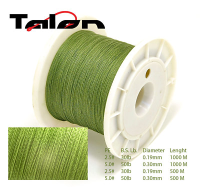 1000M TALON DYNEEMA BRAIDED 30LB FISHING LINE FROM UK