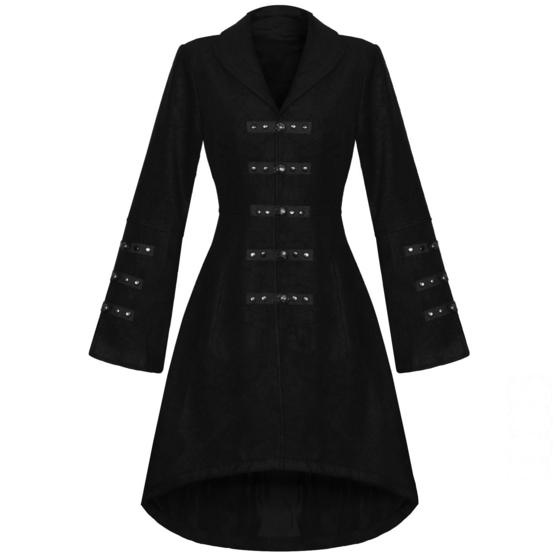 Hearts and Roses London Black Gothic Coat