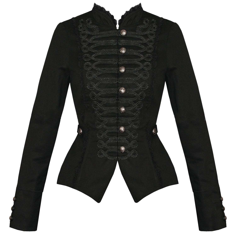 Black cotton bolero jacket