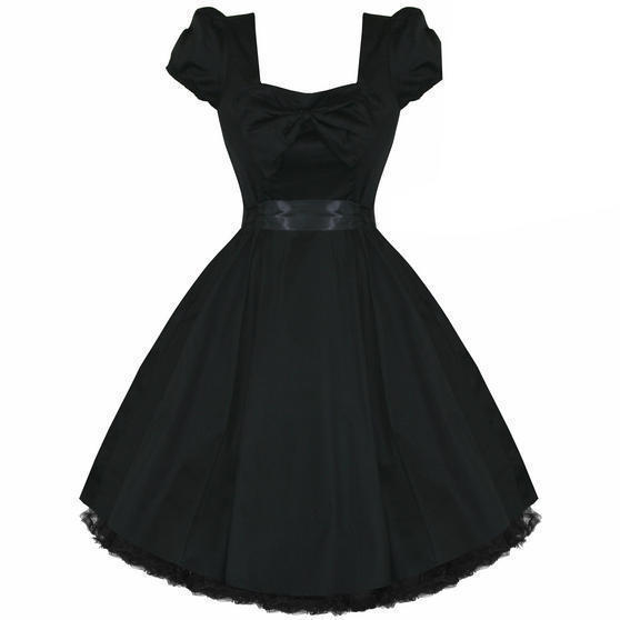 Black Vintage 50s Fifties 50s Rockabilly Pinup Party Prom Dress UK