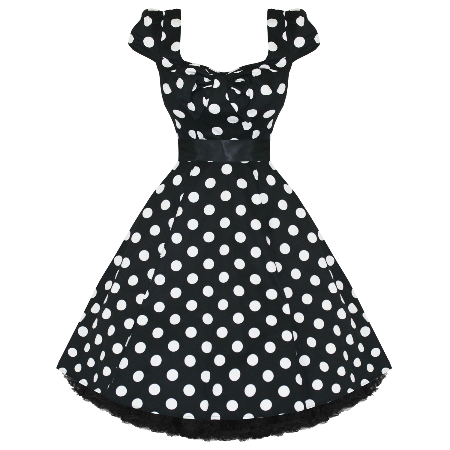 Hearts and Roses London Black Polka Dot 1950s Dress | Plus Size ...