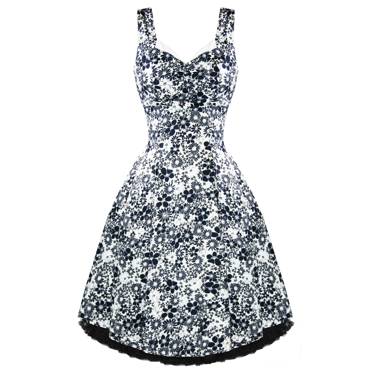 Hearts and Roses London Blue Floral 1950s Dress | Plus Size Dresses ...