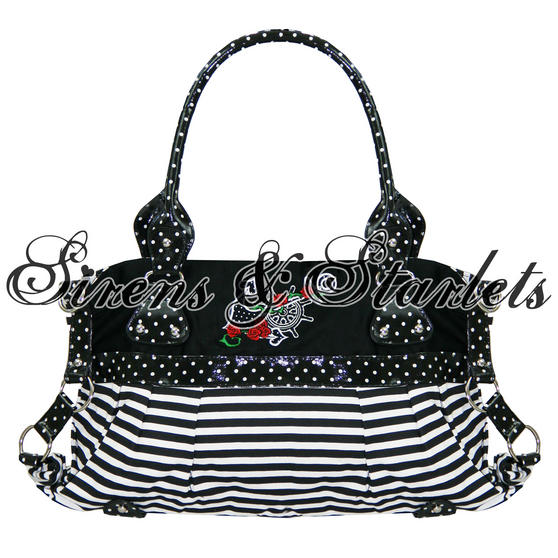 Banned Black Stripe Handbag