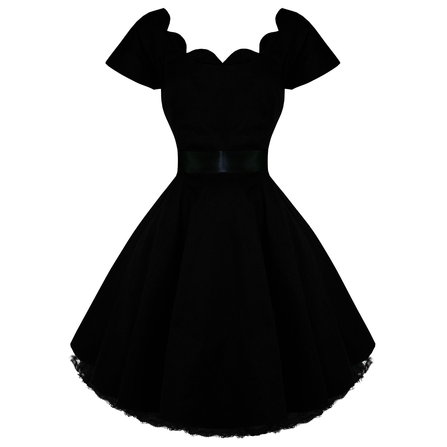 Hearts and Roses London Black 1950s Dress | Hearts and Roses ...