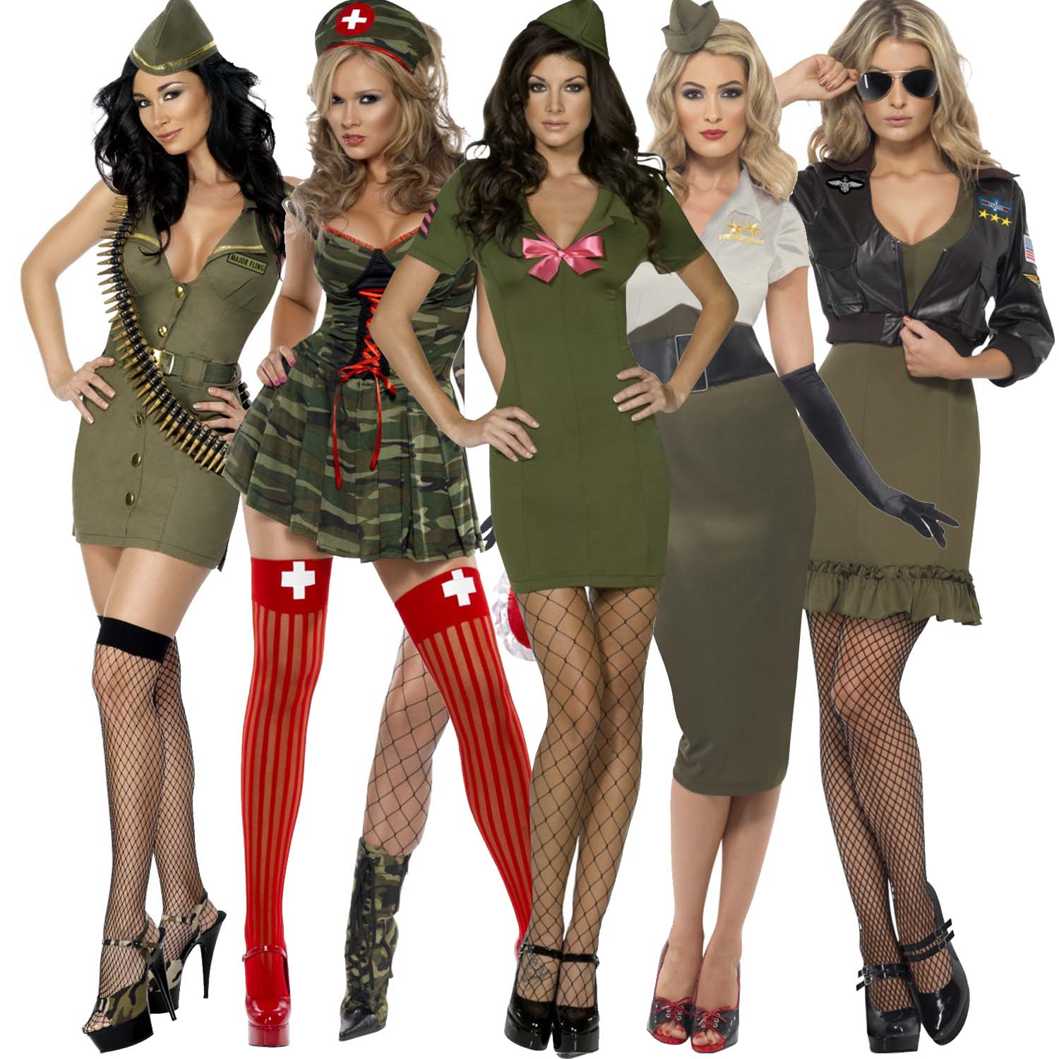 Clearance Womens Miliatary Army Solr Fancy Dress Party Costume Outfit Uk Plus Size Dresses Starlet Vintage