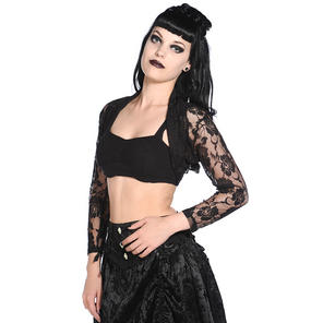 Banned Black Lace Shrug Top