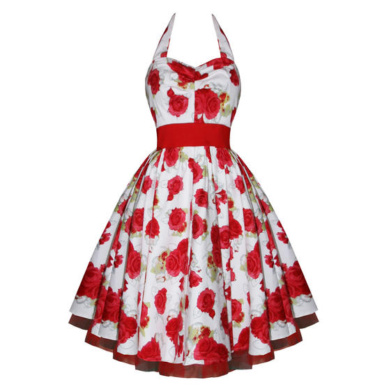 Hearts and Roses London Red Rose 1950s Dress