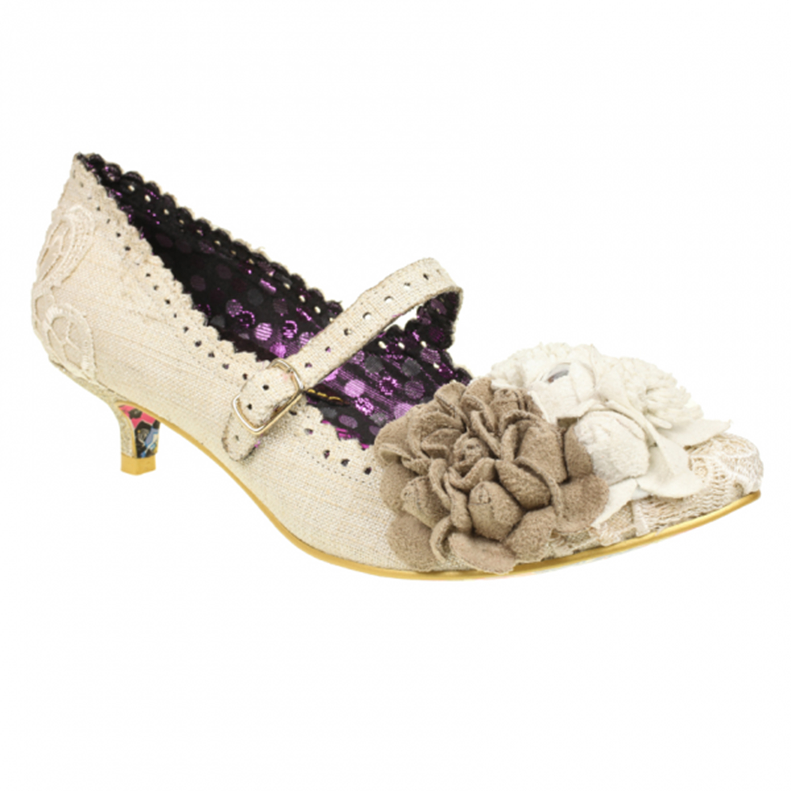 Irregular Choice White Daizy Days Wedding Shoes Thumbnail 2