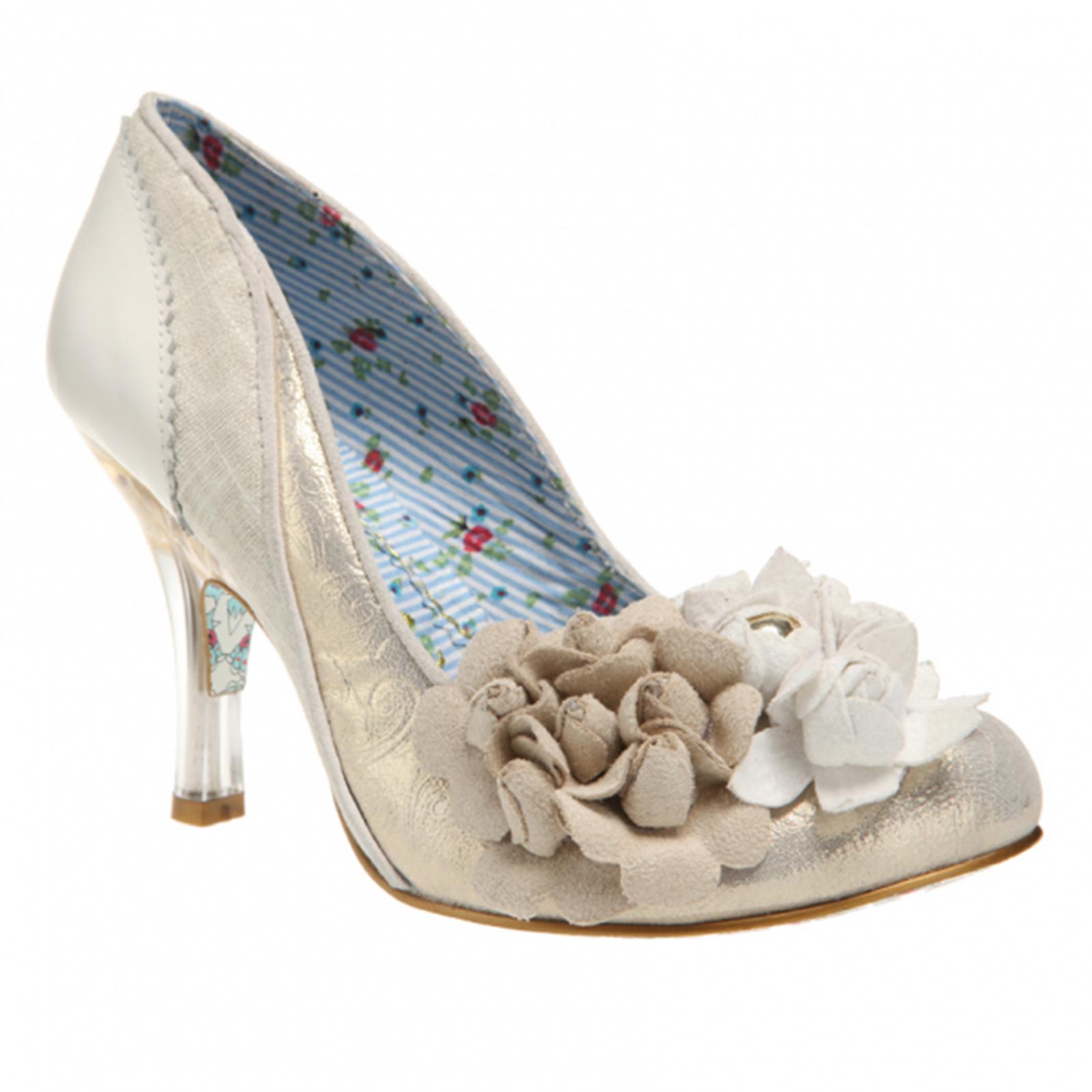 Irregular Choice Mrs Lower Ivory Gold Vintage Style High Heel Wedding Shoes  Thumbnail 2
