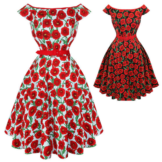 Hell Bunny Cordelia 1950s Dress