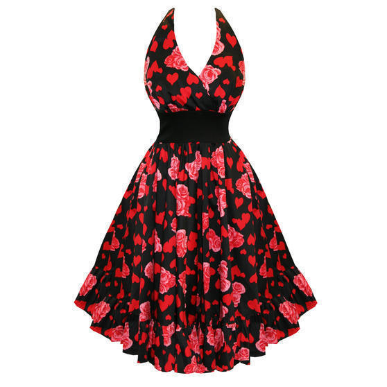 Hearts and Roses London Floral 1950s Dress