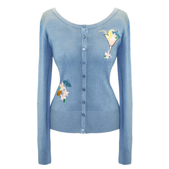 Banned Blue Cocktail Cardigan Top