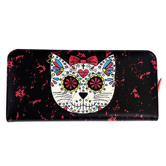 Banned Black Sugar Cat Skull Wallet